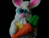 Easter Bunny Polymer Clay Cake Topper or Figurine