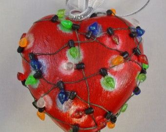 My Heart Lights Up at Christmas Ornament