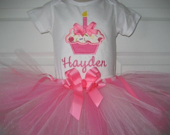boutique birthday cupcake tutu set