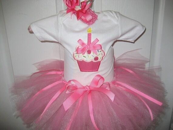 boutique birthday cupcake tutu set