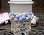 Multi-Colored Cupcake Coffee Cozy
