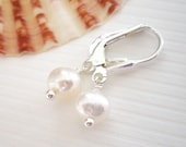 Pure and Simple - Earrings / Freshwater Pearl, Sterling Silver