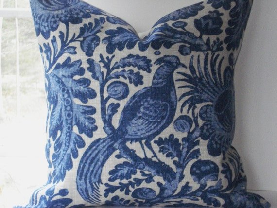 Sale 18x18 decorative pillow coverdesigner fabric waverly - Fabric for throw pillows ...