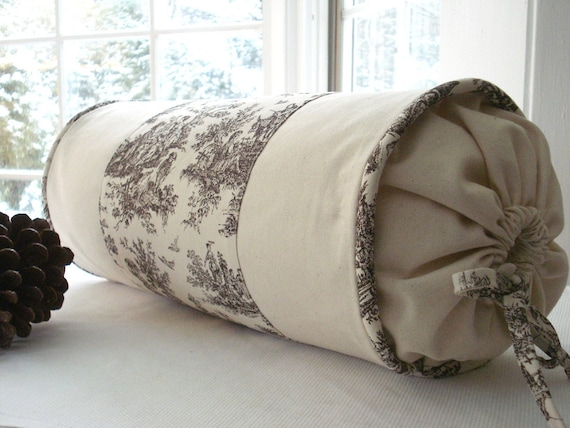 Decorative Designer Bolster Pillow Cover Choclolate