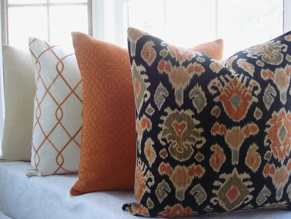 Decorative Designer Pillow Cover Ikat Designer Fabric