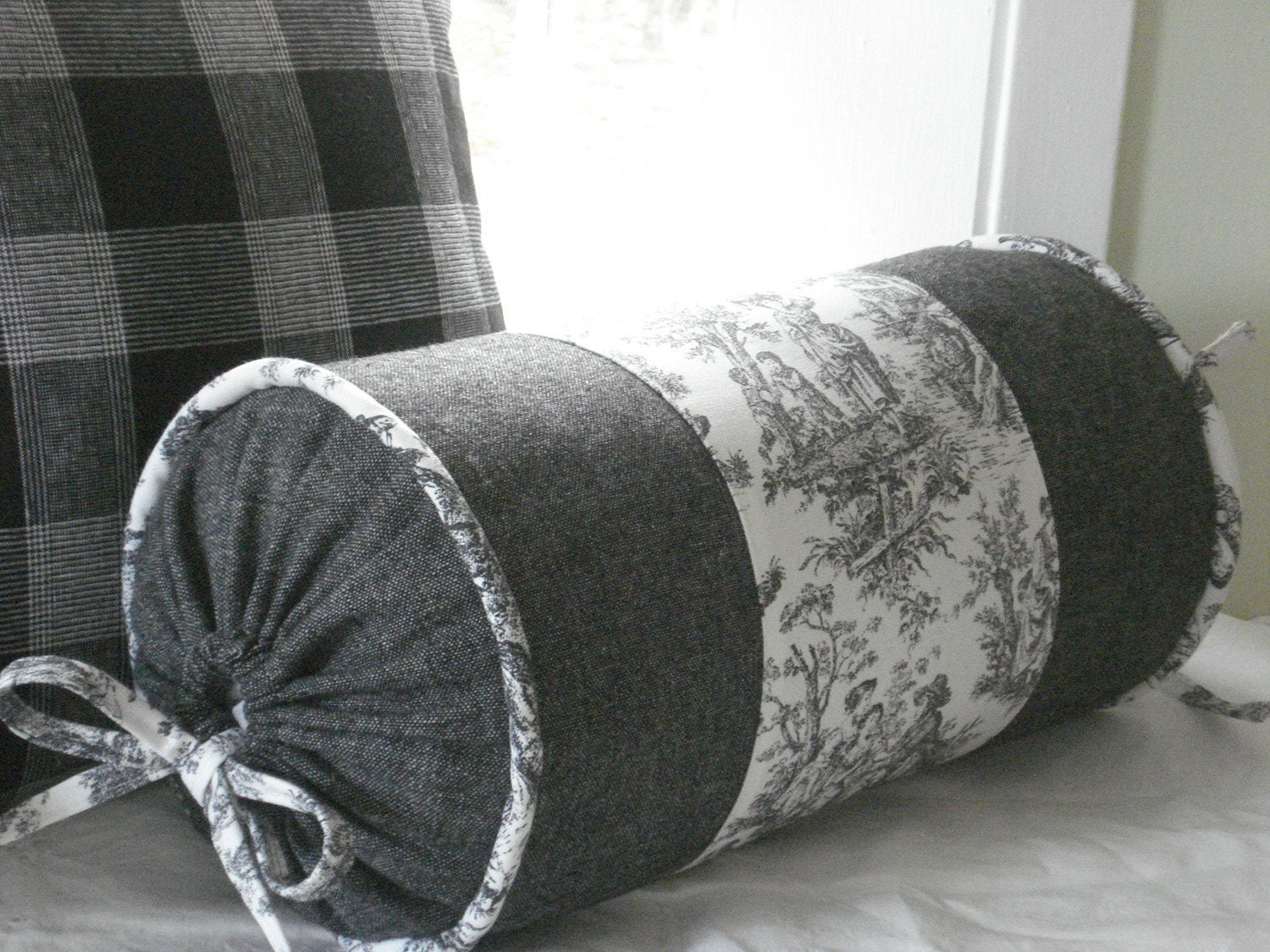 Throw Pillow Bolster : NEW..Decorative Designer ..Bolster Pillow by thecottagecupboard