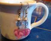 Rose Heart Earrings
