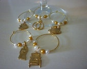 Wedding Bliss Wine Glass Charms Set of 5