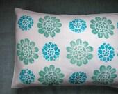 Water lilies linen travel pillow
