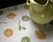 Lemon Lime Home Decor Linen Table Runner