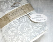 Winter White gray wedding set of four linen hand block printed home decor dinner napkins