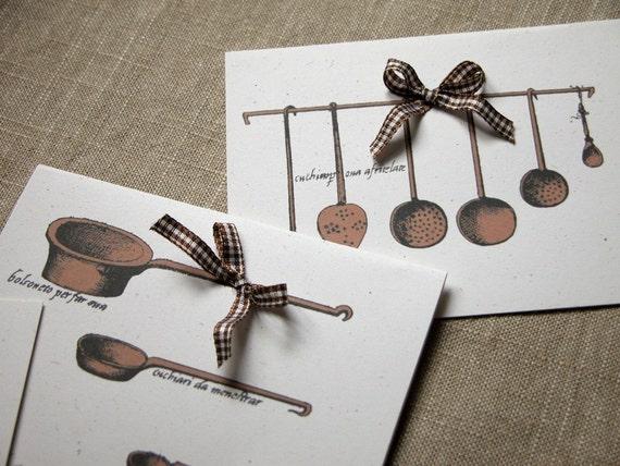 cucina Italiano cards set of four