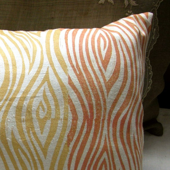 faux bois stripe pillow case