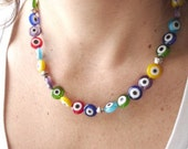 Turkish Evil Eye necklace - Colgante de Ojos Turcos