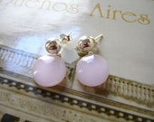 Glass and silver earrings - Pendientes Pop de vidrio y plata