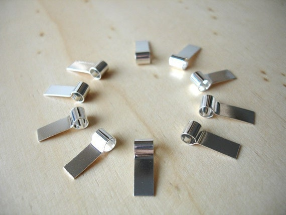20 Pure Sterling Silver Tube Bails - Reserved for KELLY