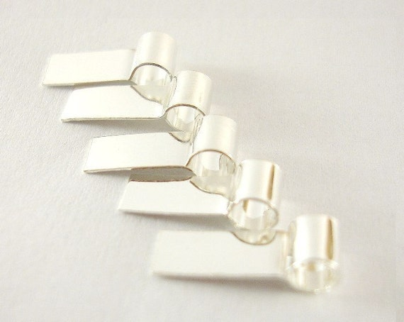 35 Pure Sterling Silver Tube Bails - Reserved for KnoxPhotoFusion