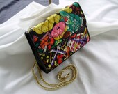 Cyber Friday Vintage hand bag 1980 with fun print.