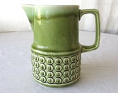 Vintage Ceramic Pitcher, Japanese Ceramic, Celadon Green Glaze