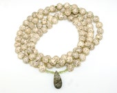 LOTUS SEED and PERIDOT - 108 Bead Mala