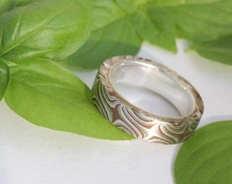 Mokume Gane  wedding ring size 6 and 8