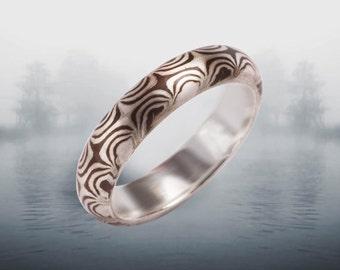 Mokume Incubus 3- 5mm Mokume Gane Ring