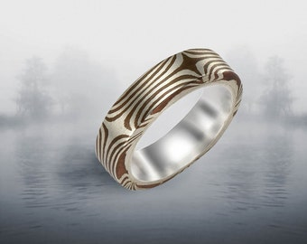 Mokume Gane Rings -Summer Stellar Mixed metal, Sterling liner