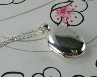 Close to my heart- silver locket with silver Chain