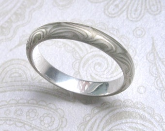 Mokume Gane  Ring 3-mm