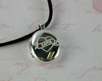 Sterling Silver locket  Tatoo