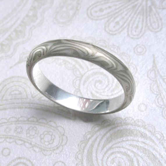 Mokume Gane  Ring 3mm to 4mm wide