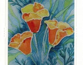 Painted Poppies Card