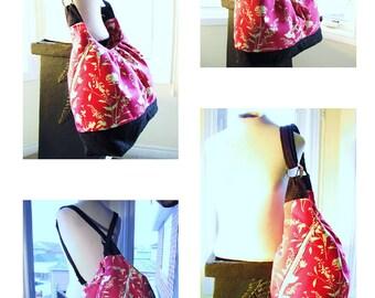 Pink Floral XL Baby Bag - Handmade Hand Bag - Popular Bag -  Mama Bag