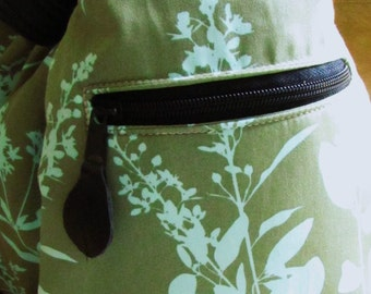 Additional zippered pocket for the convertible bag