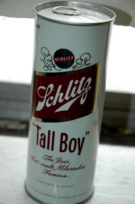 1975 Schlitz Tall Boy Beer Can