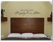 HAPPILY EVER AFTER - Vinyl Wall Lettering Words Decor Art Decal