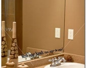 WASH YOUR HANDS  - Vinyl Lettering Wall Words Decor