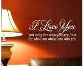 I LOVE YOU  - Vinyl Wall Lettering Words Decor Art Decal