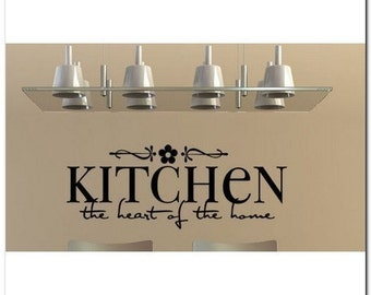 Kitchen The Heart Of The Home  - Vinyl Wall Lettering Decor Decal