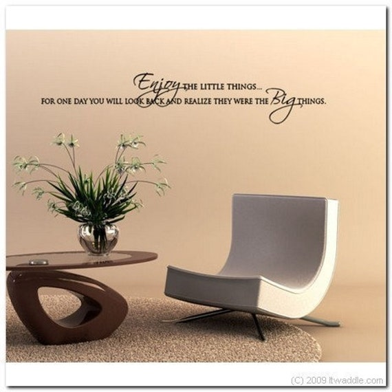Enjoy the Little Things -  Vinyl Wall Lettering Decor