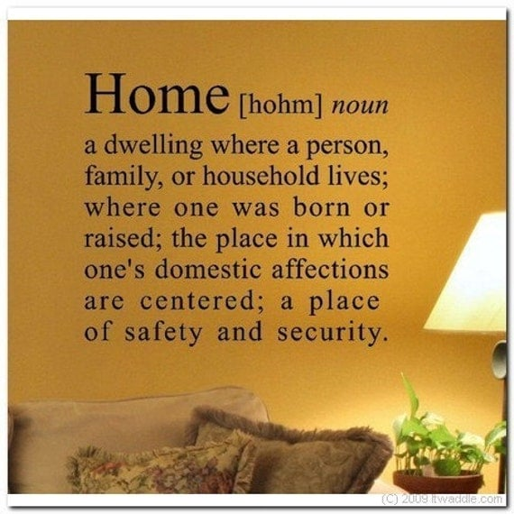 HOME DEFINITION Vinyl Wall Lettering Decor Decal