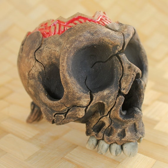 Trepanning Accident Tiki Mug - Red pattern 2
