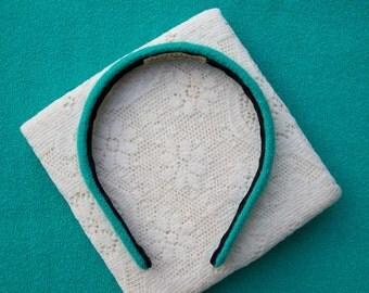 Aqua blue winter headband