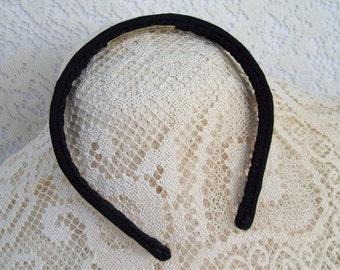 Plain Black Hairband