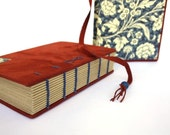 Red Suede Leather Travel Journal