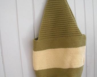 Cream and Sage Shoulder Bag