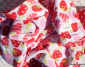 Minky Baby Blanket - Merry Berry in White - Red Polka Dot Minky - Double Minky Blanket  - Crib Size