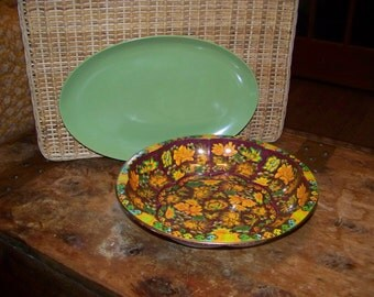 Two vintage plates/trays