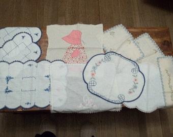 vintage ten piece dresser scarfs