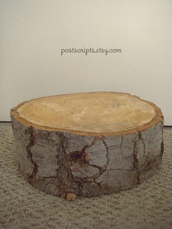the stump rustic wood tree slice wedding cake base or cupcake. Black Bedroom Furniture Sets. Home Design Ideas